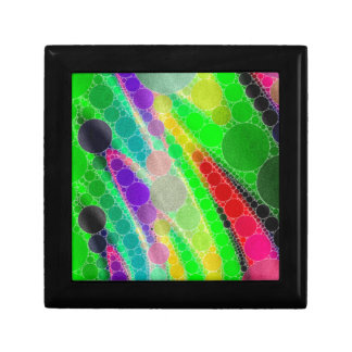 Florescent Green Yellow Abstract Small Square Gift Box