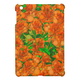 Florescent Orange Green Flower Abstract iPad Mini Cases