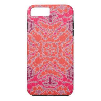Florescent Orange Pink Abstract iPhone 7 Plus Case
