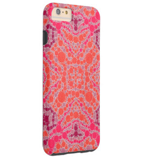 Florescent Orange Pink Abstract Tough iPhone 6 Plus Case