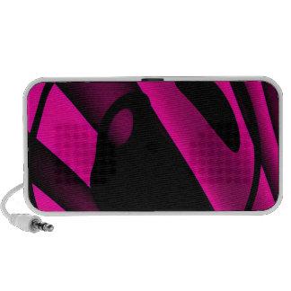 Florescent Pink Black Abstract Travelling Speaker