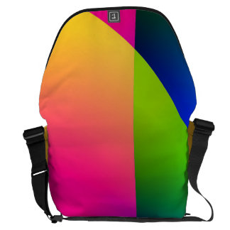 Florescent Pink Blue Abstract Pattern Courier Bags