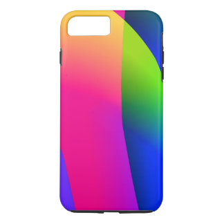 Florescent Pink Blue Abstract Pattern iPhone 7 Plus Case