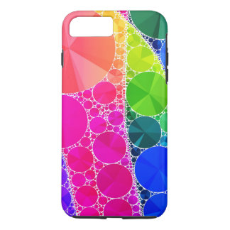 Florescent Pink Blue Bling Abstract iPhone 7 Plus Case