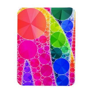 Florescent Pink Blue Bling Abstract Rectangular Photo Magnet