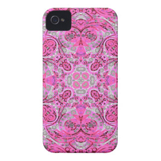 Florescent Pink Grey Abstract iPhone 4 Case-Mate Cases