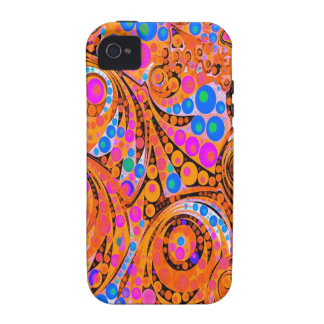 Florescent Pink Orange Abstract Vibe iPhone 4 Covers