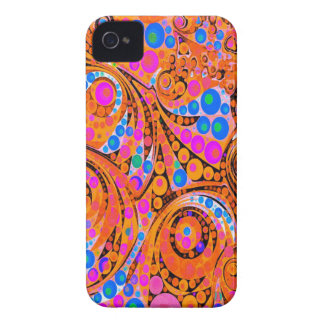 Florescent Pink Orange Abstract iPhone 4 Case-Mate Cases