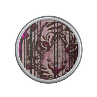 Florescent Pink Tiger Bluetooth Speaker