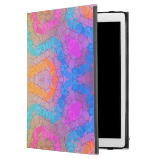 """Florescent Pink Turquoise Abstract iPad Pro 12.9"""" Case"""