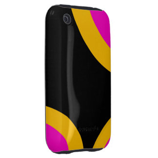 Florescent Pink Yellow Retro Pattern Tough iPhone 3 Cases