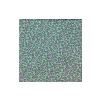 Florescent Printed Bling Animal Print Stone Magnet