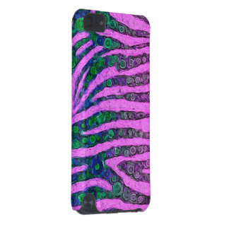 Florescent Purple Green Zebra Abstract iPod Touch 5G Case