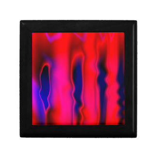 Florescent Red Blue Abstract Small Square Gift Box