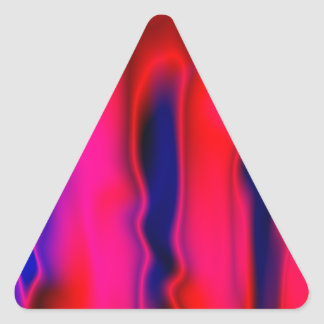 Florescent Red Blue Abstract Triangle Sticker