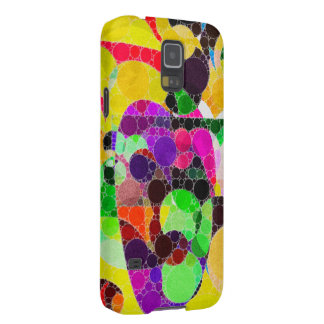 Florescent Yellow Pink Abstract Galaxy S5 Case