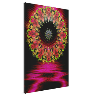 Floretiana Psychedelic Love Art  Wrapped Canvas Stretched Canvas Print