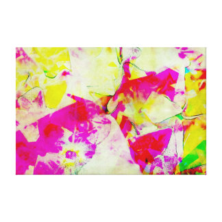 'Florhuis' Abstract Watercolour Flowers Canvas Print