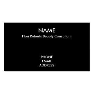 Flori Roberts Beauty Consultant Business Card