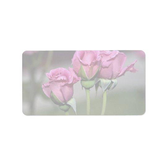 Floribunda 'Angel Face' Roses Label