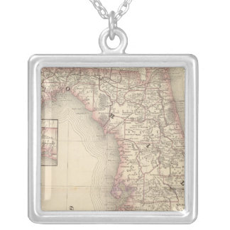 Florida 10 silver plated necklace