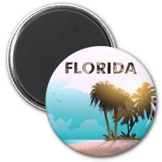 Florida 6 Cm Round Magnet