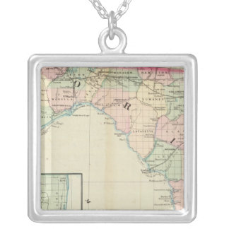 Florida 8 silver plated necklace