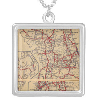 Florida 9 silver plated necklace