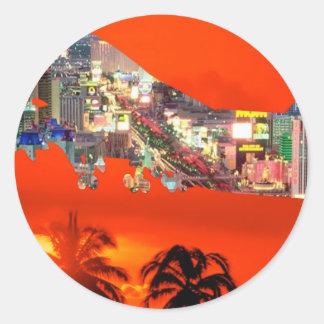 florida airlines round sticker