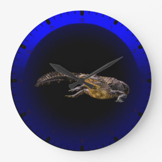 Florida alligator large clock