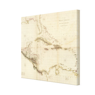Florida and West Indies Canvas Print