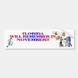 Florida - Anti ObamaCare, New Taxes & Spending Bumper Sticker