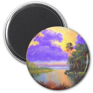 Florida Backwoods Colors Refrigerator Magnet
