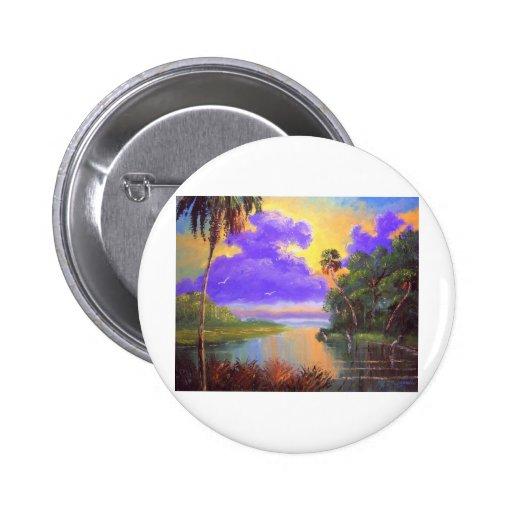 Florida Backwoods Colours 6 Cm Round Badge