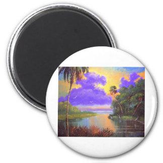 Florida Backwoods Colours 6 Cm Round Magnet