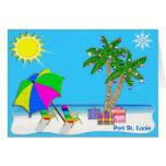 Florida Beach Christmas Cards with Your CITY