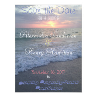 Florida Beach Sunset Save the Date Magnet Magnetic Invitations