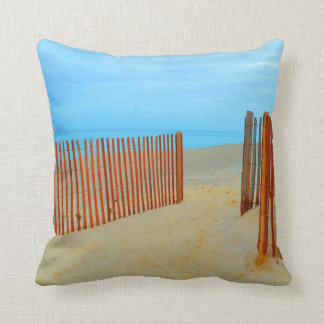 florida beach with fence colorful cushion