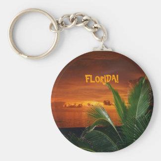 FLORIDA! beautiful Florida sunset, palm tree Key Ring