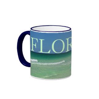 FLORIDA - Beautiful waters of Northwest Gulf Coast Ringer Coffee Mug