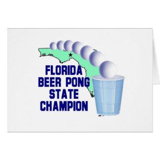 Florida Beer Pong Champion Card