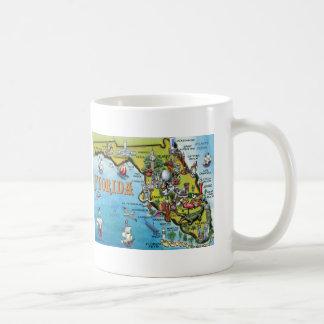 Florida Cartoon Map Basic White Mug