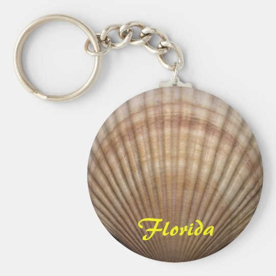 Florida Chain Basic Round Button Key Ring