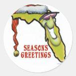 Florida Christmas Classic Round Sticker