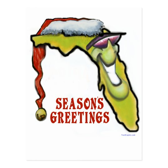 Florida Christmas Postcard