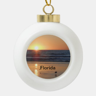 Florida Christmas Tree Ornament