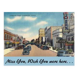 Florida, Cleveland Street, Clearwater Postcard