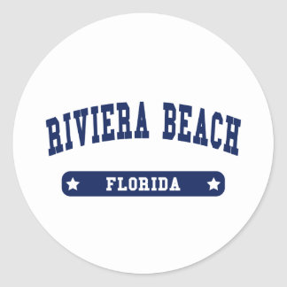 Florida College Style tee shirts Classic Round Sticker