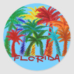 Florida colourful palm tree stickers