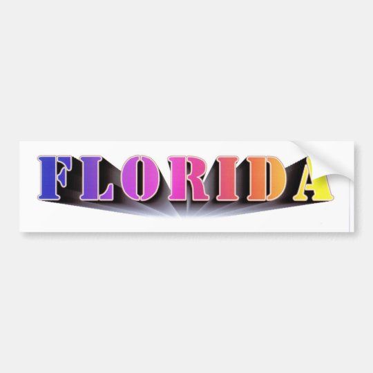 Florida Colours Bumper Sticker